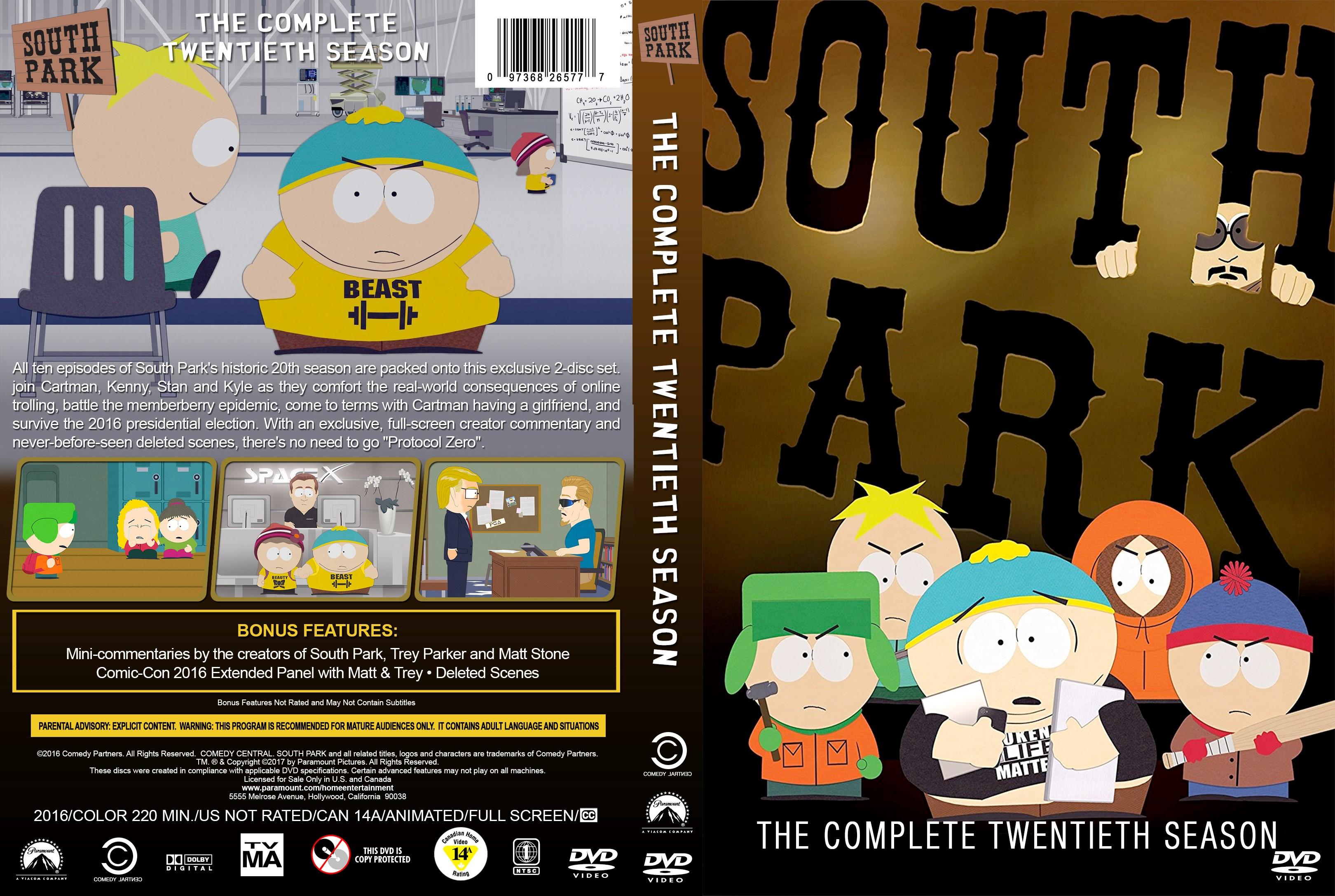 South Park Season 1-21 DVD Cover Collection   Cover Addict