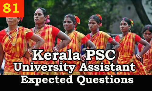 Kerala PSC Model Questions for University Assistant - 81