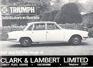 Clark & Lambert Ltd Triumph 2000 1970 advert