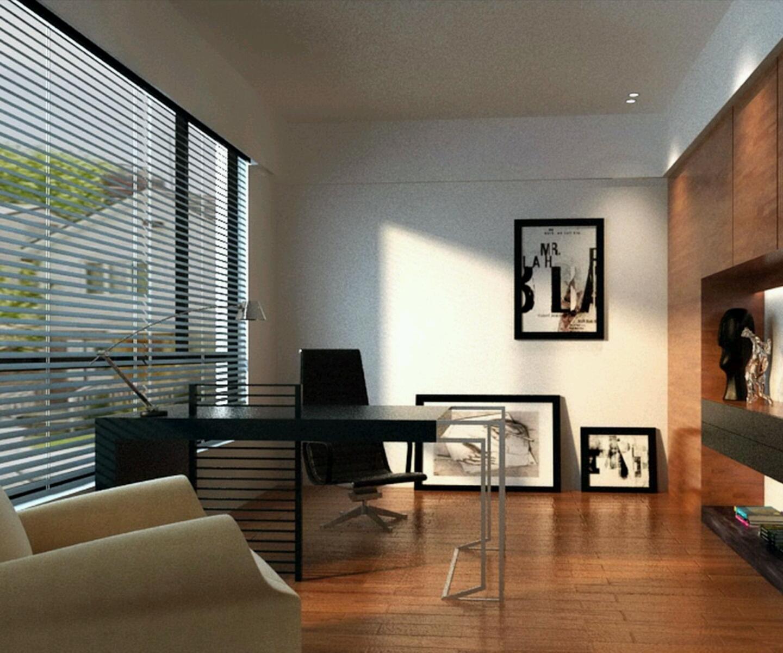 New home designs latest. Modern homes studyrooms interior designs ideas.
