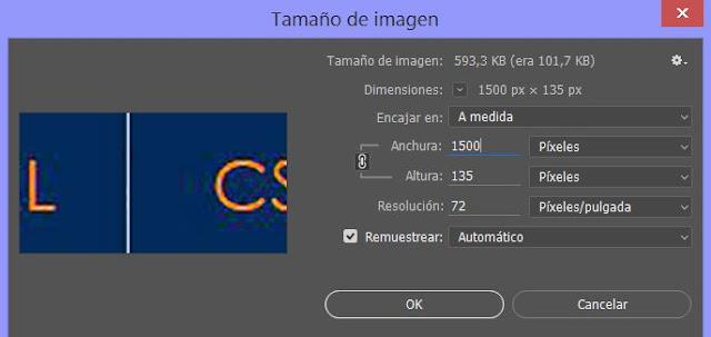 Modificar el tamaño de imagen en Photoshop