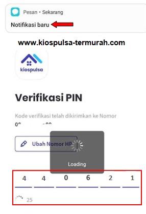 verifikasi login aplikasi kios pulsa