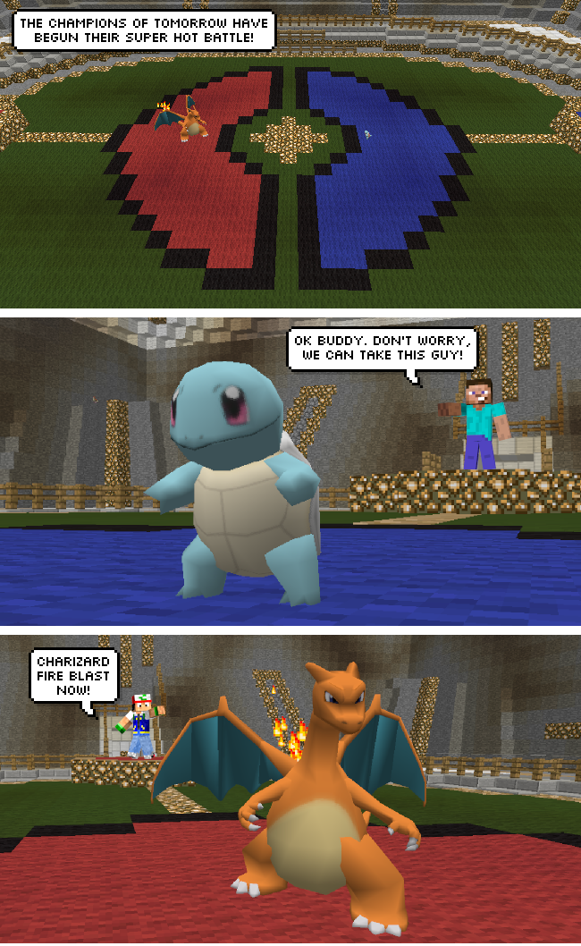 Pokemon Minecraft Comic