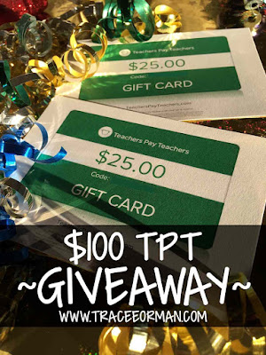 New Year 2017 Giveaway TeachersPayTeachers Gift Cards www.traceeorman.com