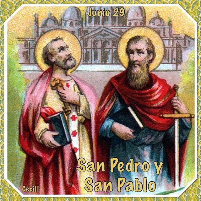 Santoral Católico Solemnidad De San Pedro Y San Pablo