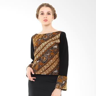 Contoh Blouse Batik Dengan Kombinasi