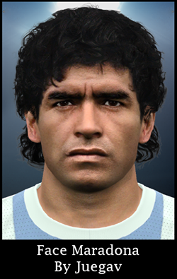 PES 2016 Face Maradona By Juegav