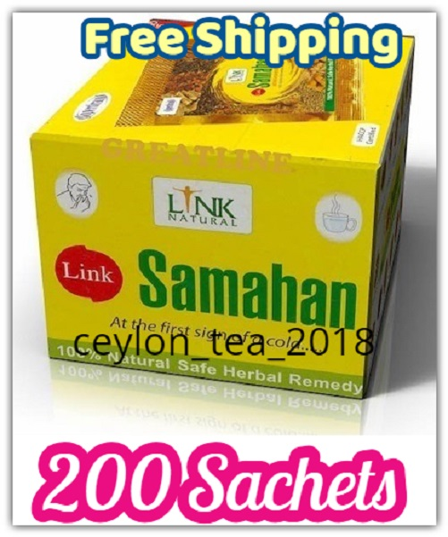 Link Samahan 100% natural herbal tea for prevention and relief of cold and cold related symptoms 50 bags