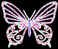 Borboleta floral 2 - Criação Blog PNG-Free