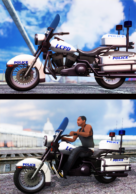 Free Download GTA IV Police Bike Mod for GTA San Andreas.