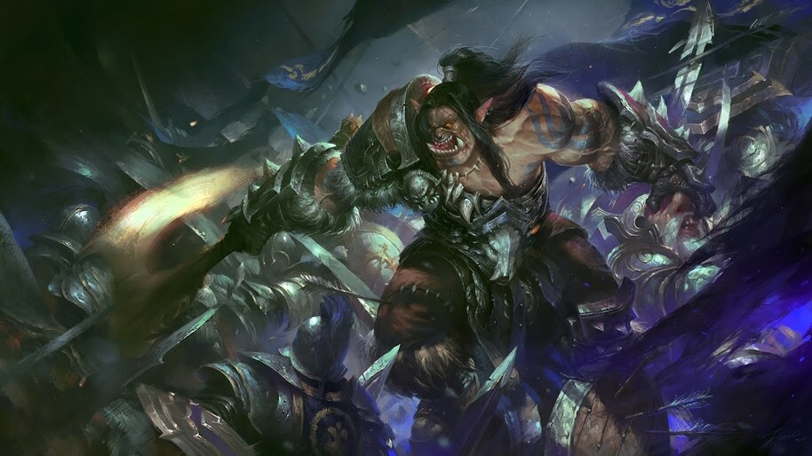 Grommash Hellscream WoW Battle 4K Wallpaper #4 360