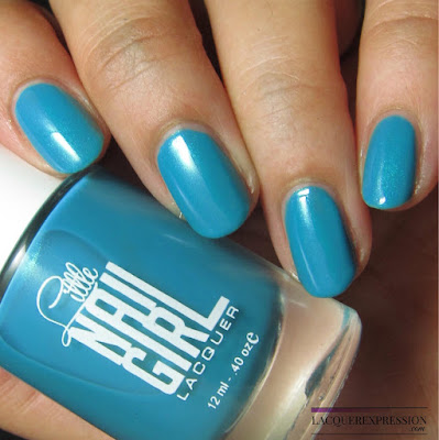 nail polish swatch of Chris-Teal by Little Nail Girl Lacquer