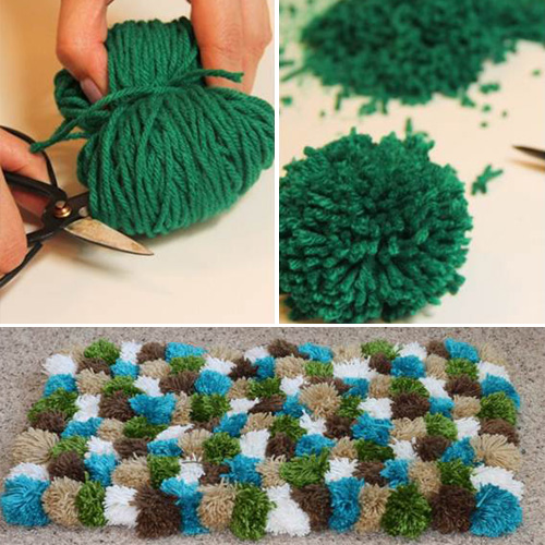 How To Make Pompom Rugs