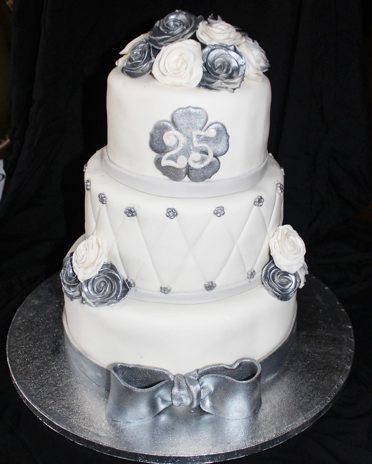 Las tartas de mj tarta bodas de plata - Decoracion para bodas de plata ...