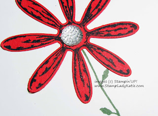 Close-up of the punched Daisy from Stampin'UP!'s Daisy Delight Stamp Set by StampLadyKatie