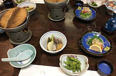 川古温泉 夕食