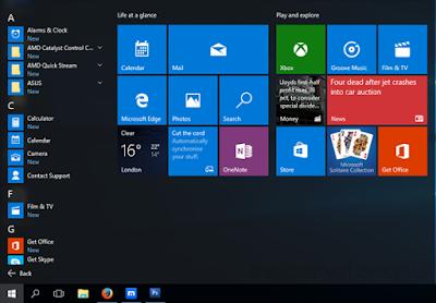 Tampilan Menu Windows 10 Urut Sesuai Abjad
