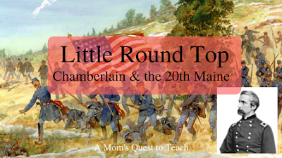 Little Round Top; Joshua Chamberlain and 20th Maine