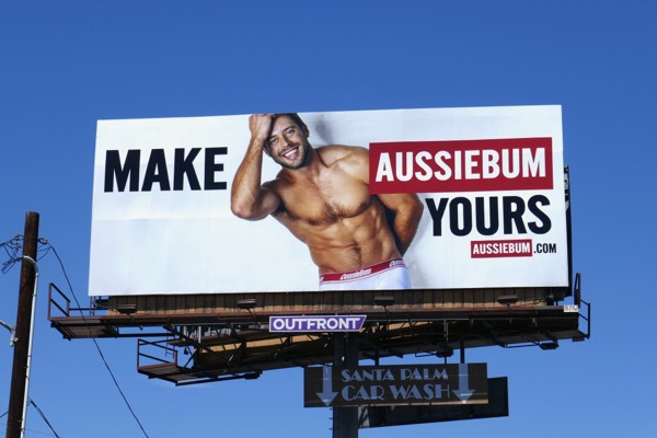 Make AussieBum Yours mens underwear billboard