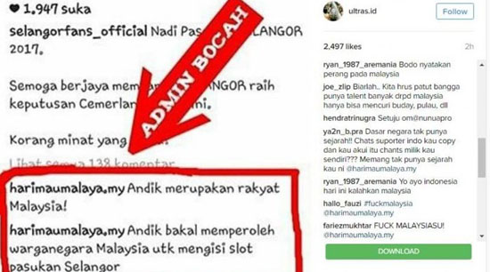 Andik Vermansah Disebut Warga Negara Malaysia