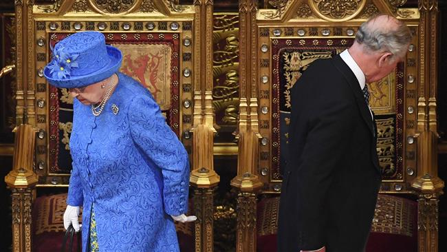 Britain's Queen Elizabeth II  lays out UK Prime Minister Theresa May's policies amid tumult