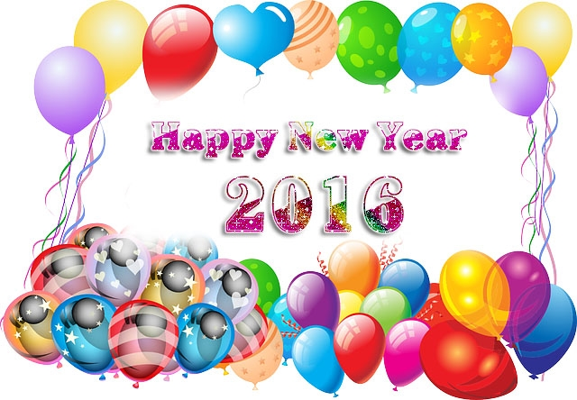 Balloons New Year Images 2016