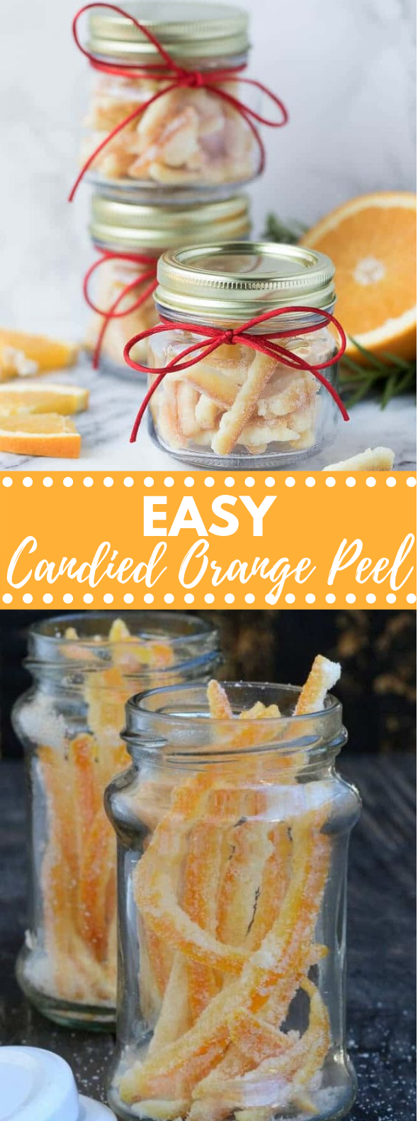 EASY CANDIED ORANGE PEEL RECIPE #dessert #holidayfood