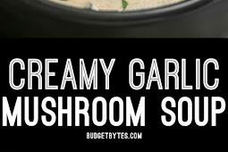 CREAMY GARLIC MUSHROOM SOUP