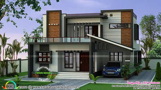 35 Lakh Cost Estimated Contemporary Home Kerala Home