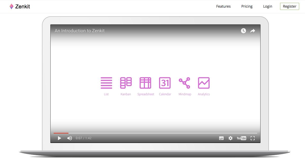 Zenkit 一個專案多種視覺化管理:清單、看板、表格、月曆合一