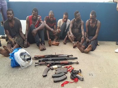 6 sea pirates arrested nigerian navy