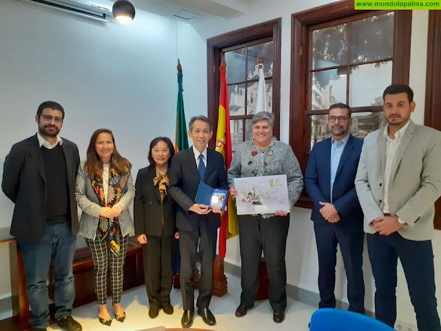 El Ayuntamiento de Los Llanos de Aridane recibió la visita oficial del cónsul de Japón