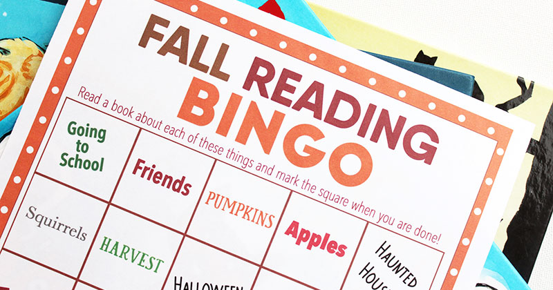 picture regarding Fall Bingo Printable known as Crank out Examining Entertaining with Tumble E book Bingo Cost-free Printable