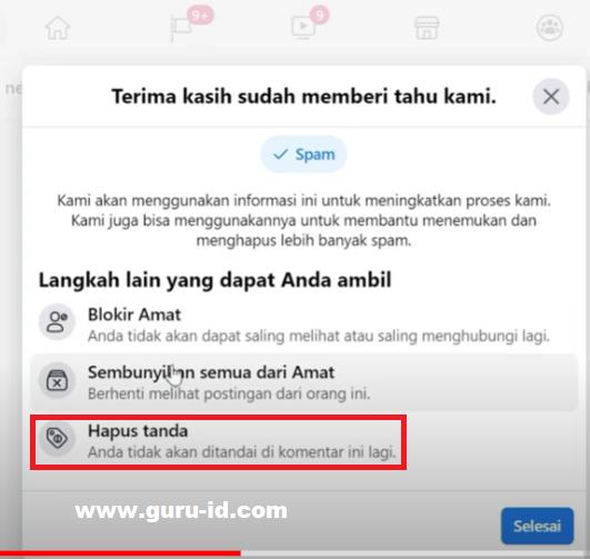 gambar cara amankan akun fb yang ditandai link video porno berbahaya