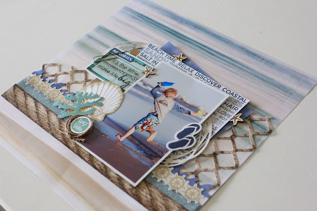 Kaisercraft February 2016 Challenge - Coastal escape by Alicia McNamara