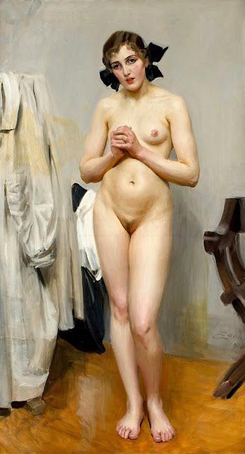 Anders Zorn - Modella - arte - erotismo - nudo femminile