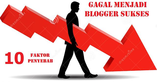 10 Faktor Terbesar Penyebab Gagal Menjadi Blogger Sukses by Anas Blogging Tips