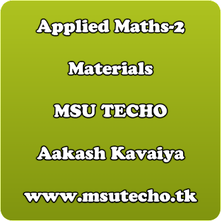 Applied Maths-2 Materials | msutecho , msu techo material