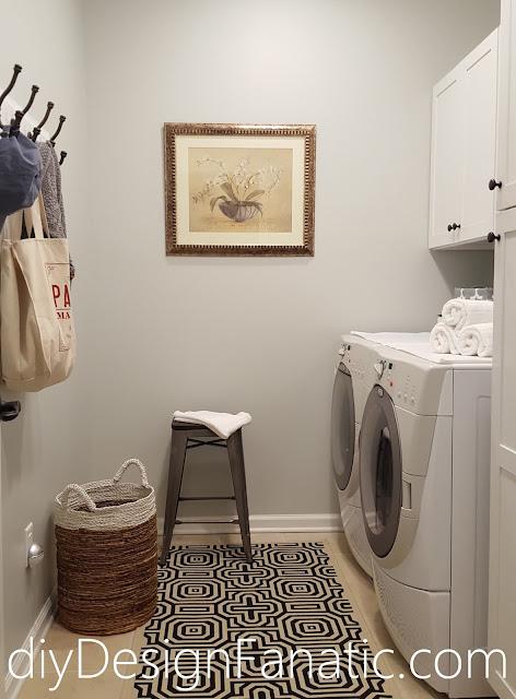 industrial stool, laundry room, farmhouse style, farmhouse, cottage, cottage style, diy, Silver strand, reclaimed wood coat rack
