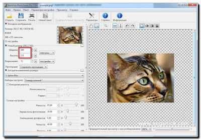 PhotoZoom Pro 7.0.6 - Обрезка