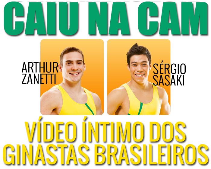 Video dos ginastas brasileiros Arthur Zanetti e Sergio Sasaki se masturbando na webcam em um banhei