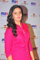 Sree Mukhi in Pink Kurti looks beautiful at Meet and Greet Session at Max Store (29).JPG