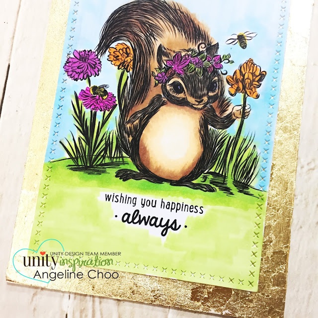 ScrappyScrappy: [NEW VIDEO] February Unity Stamp Blog Hop #scrappyscrappy #unitystampco #card #cardmaking #papercraft #craft #crafting #stamp #stamping #quicktipvideo #youtube #foiling #foilborder #tonicstudios #nuvogildingflakes #cuteanimal #copicmarkers #squirrel #happybirthday #birthdaycard