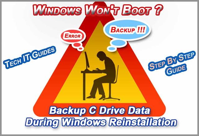 Backup C Drive Data