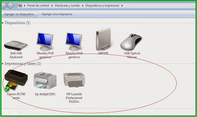 printer list windows 7 operating system
