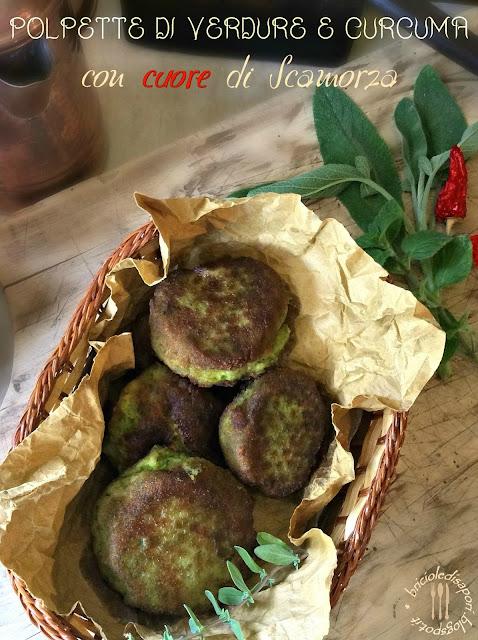 crocchette di verdure e curcuma con cuore di scamorza