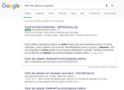 búsquedas médicas google