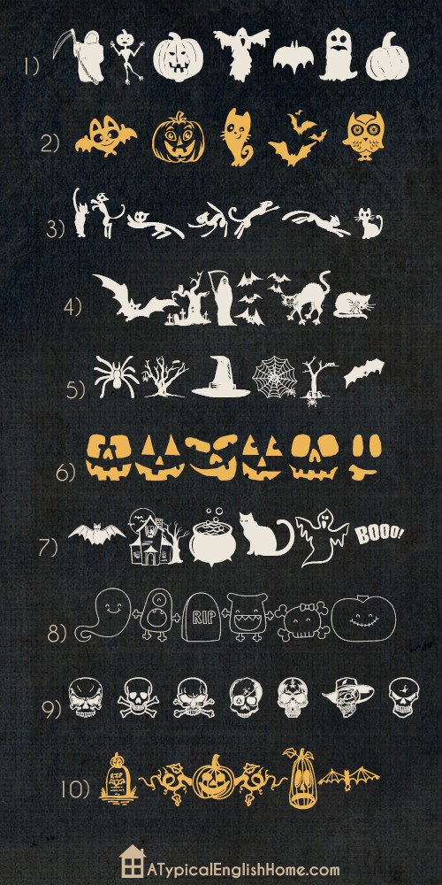 A Typical English Home: Best Halloween Dingbats