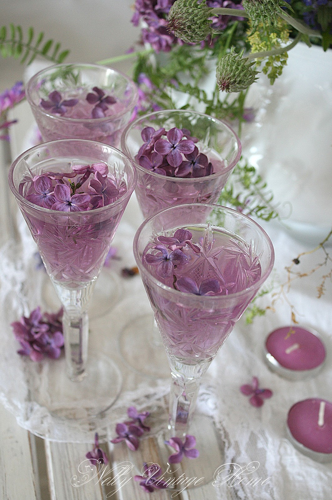 photo of a lovely drink with Lilacs   Color Me Purple ...