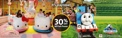 Maybank Cards Discount Hello Kitty Town & Thomas Town